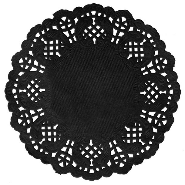 Vente 10 sets de table ronds dentelle ardoise nappes for Sets de table ronds