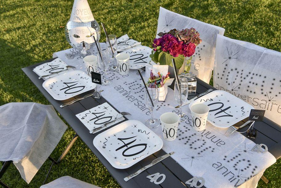 achat 10 assiettes anniversaire 18ans mariage anniversaire 1001 deco table. Black Bedroom Furniture Sets. Home Design Ideas