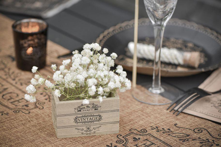 Achat 2 minis cagettes vintage mariage anniversaire - Achat deco table ...