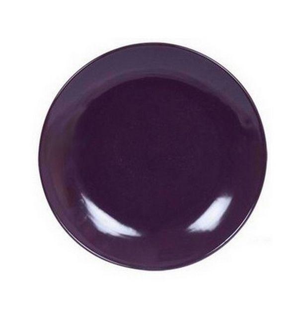 vente assiette dessert ronde violette vaisselle 1001 deco table. Black Bedroom Furniture Sets. Home Design Ideas