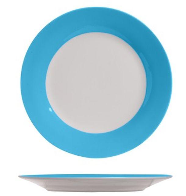 assiette plate bleu turquoise