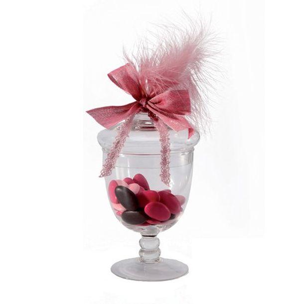 acheter bocal sur pied avec couvercle pour bonbons candy bar mariage anniversaire 1001 deco table. Black Bedroom Furniture Sets. Home Design Ideas