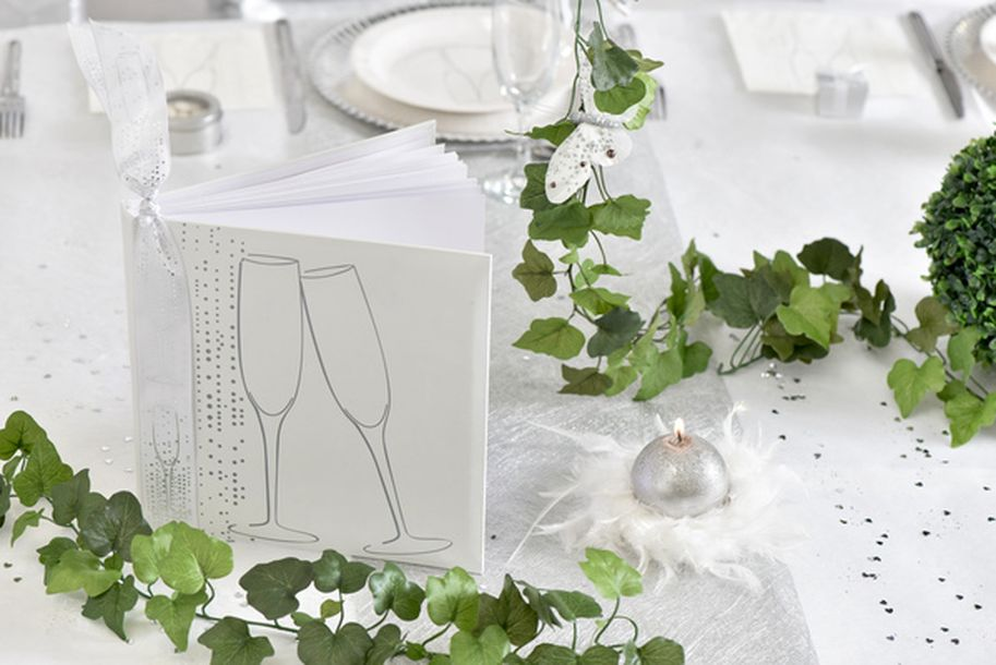 vente chemin de table champagne blanc nappes serviettes chemins de table 1001 deco table. Black Bedroom Furniture Sets. Home Design Ideas