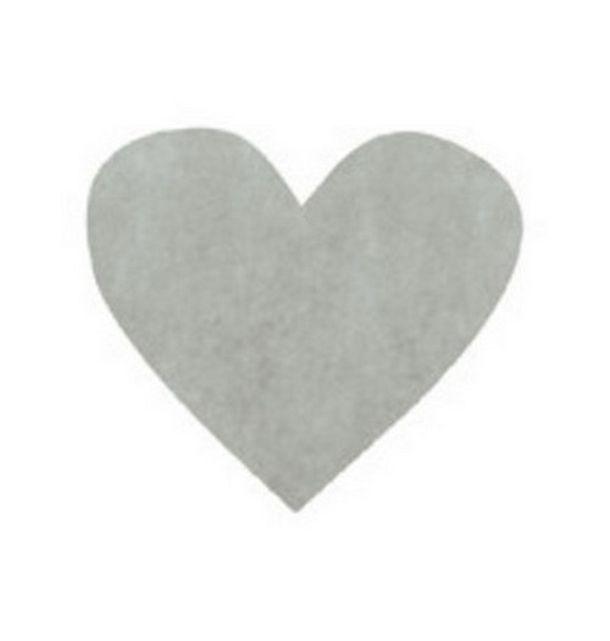 vente confettis papier coeur gris d coration de table. Black Bedroom Furniture Sets. Home Design Ideas