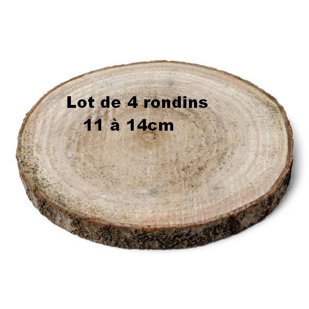 Acheter d cor de table rondin de bois d11 14cm lot de 4 d coration de table 1001 deco table - Rondin de bois deco ...