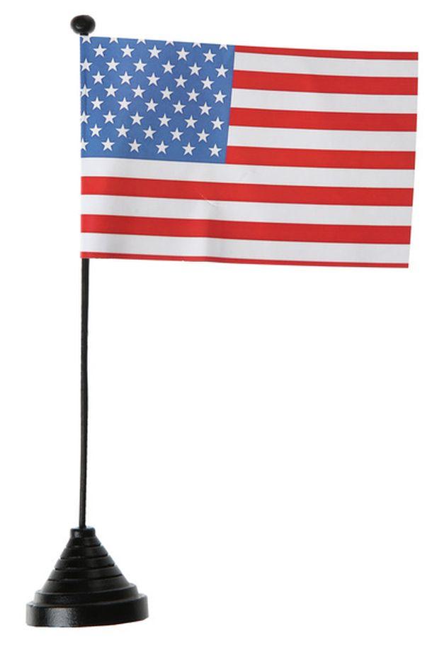 vente drapeau am rique sur pied d coration de table 1001 deco table. Black Bedroom Furniture Sets. Home Design Ideas