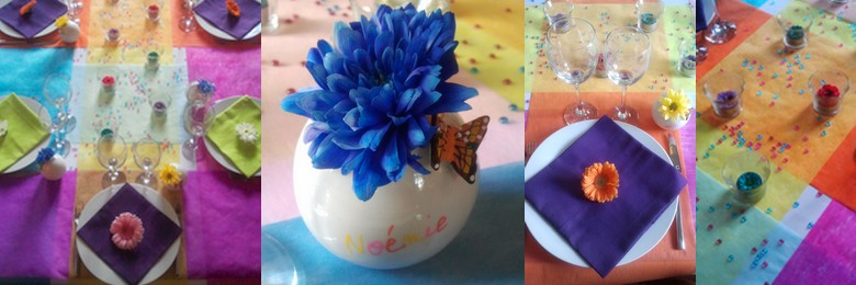 Décoration de table pour la fête des mères / fête des pères