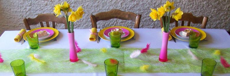 Déco de table Pâques fleuris