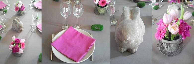Déco de table Pâques et lapin