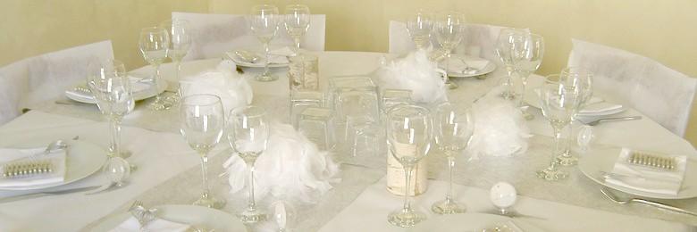 idée decoration de table blanche