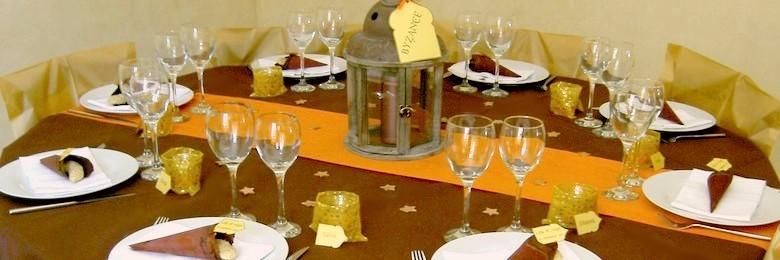 Id es de d coration de table et de salle pour un mariage - Deco de table orientale ...