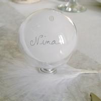 Hiver boule transparente plexi nappe ronde intiss - Nappe transparente pour table en verre ...