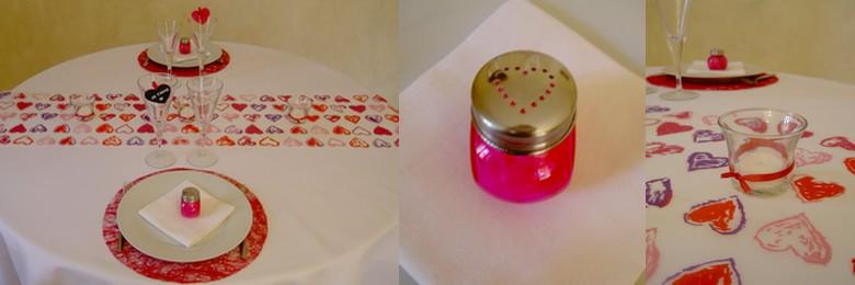 Décoration de table Saint Valentin romantique