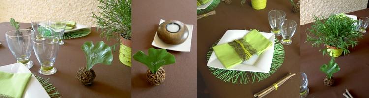 décoration de table jungle #3