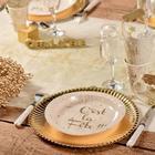 deco table noel et nouvel an dorée.