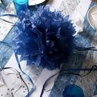 deco table noel et nouvel an cotillons bleus
