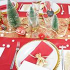 deco de table de noel rouge et or