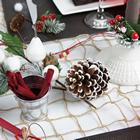 deco de table de noel nature