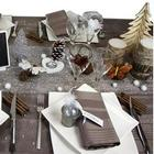 deco de table noel et nouvel an taupe et neige