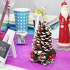deco de table noel multicolore