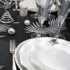 table de fetes paillet� noir et argent
