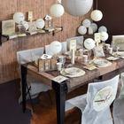 decoration de table anniveraire, retraite, theme voyage