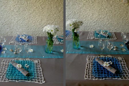 Id es de d coration de table sur le th me des vacances et for Decoration sur la mer