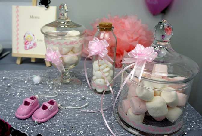 Candy bar pour bapteme petite fille | 1001 deco table