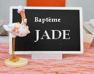 Ardoise marque menu pour deco de table bapteme.