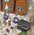 Deco de table theme voyage, marque place, urne tirelire, chemin de table..