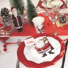 deco de table de noel rouge et blanc