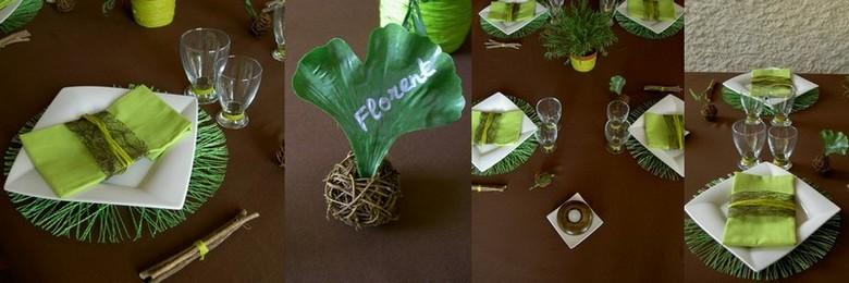 Id es de d coration de table et de salle pour un repas en famille ou entre amis for Deco table jungle