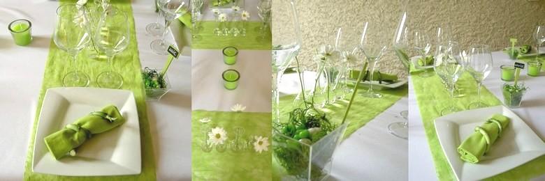 Table Vert Anis Et Blanc Cette Box Déco De Table Vert Anis Et Blanc ...