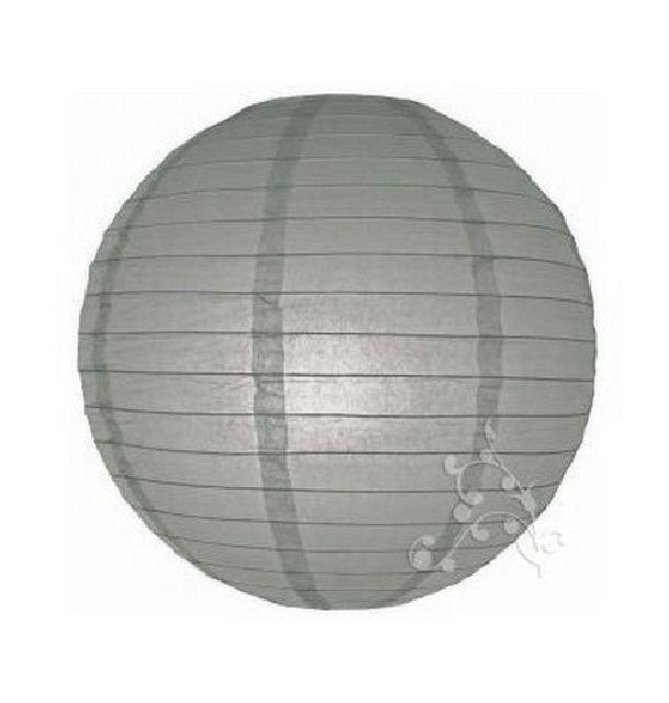 Acheter lampion boule chinoise gris d coration de salle 1001 deco table - Boule papier chinoise ...