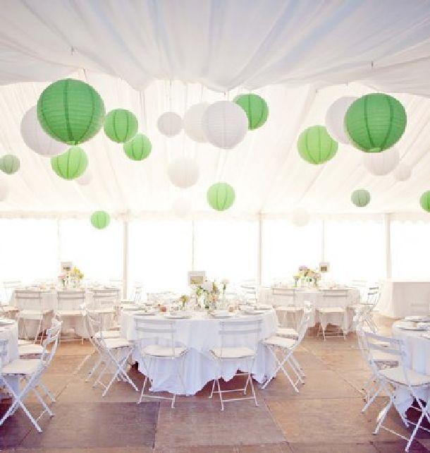 Achat lampion boule chinoise vert d 39 eau d coration de for Decoration mariage vert d eau