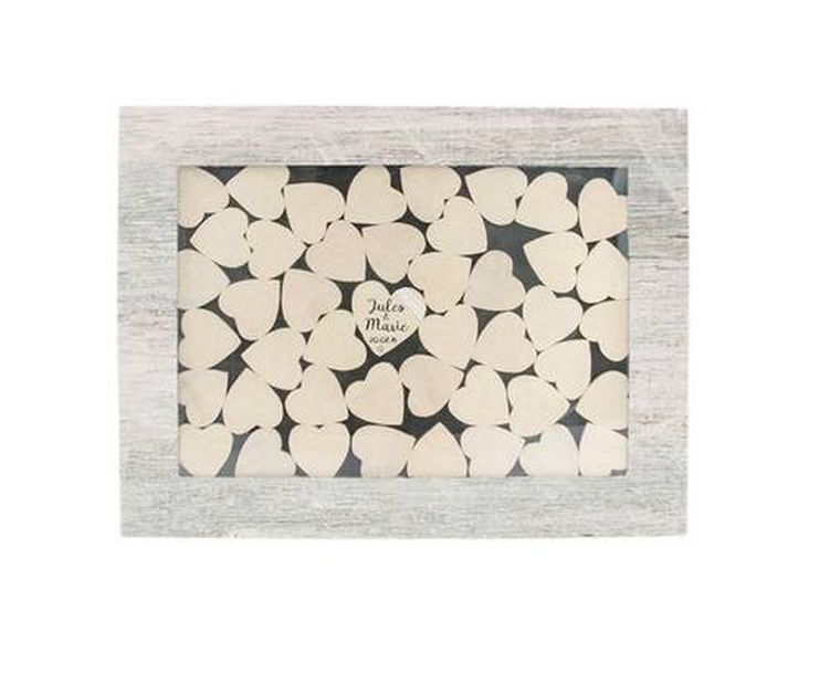 acheter livre d 39 or cadre bois avec 45 c urs d corations mariage 1001 deco table. Black Bedroom Furniture Sets. Home Design Ideas