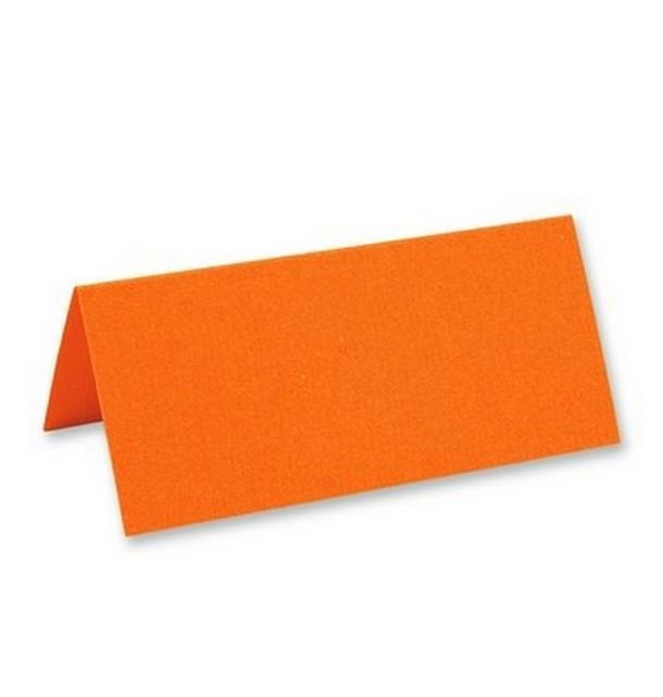 Acheter marque place porte nom chevalet orange x25 marques for Decoration table porte nom
