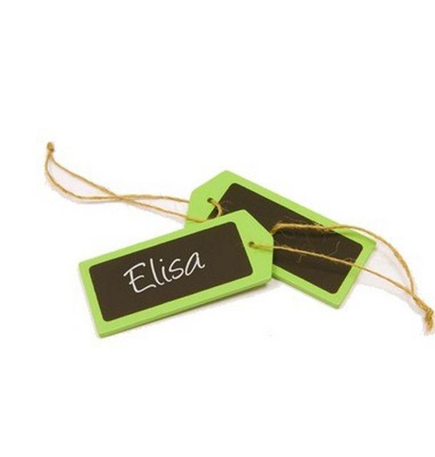 Acheter marque place porte nom tiquette en bois vert anis - Marque nom pour table ...