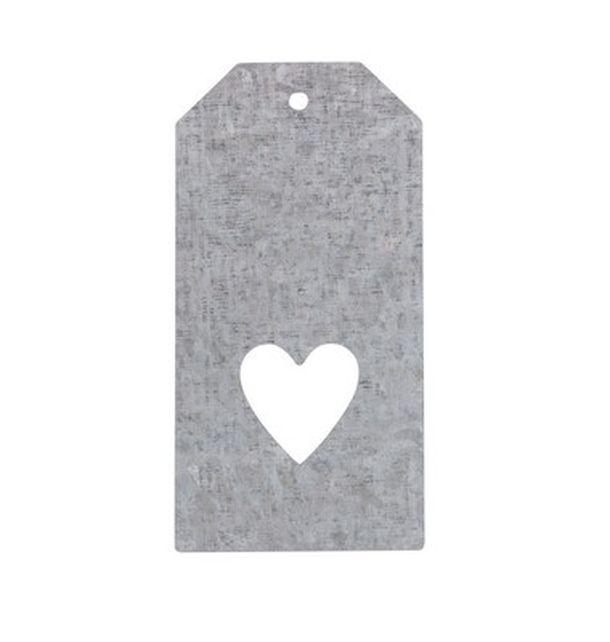 acheter marque place porte nom tiquette rectangle coeur en zinc marques place menu etiquettes. Black Bedroom Furniture Sets. Home Design Ideas