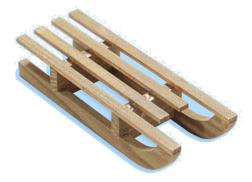 Luge En Bois Deco : Mini luge en bois teint? brun Ambiances Accueil 1001 deco table