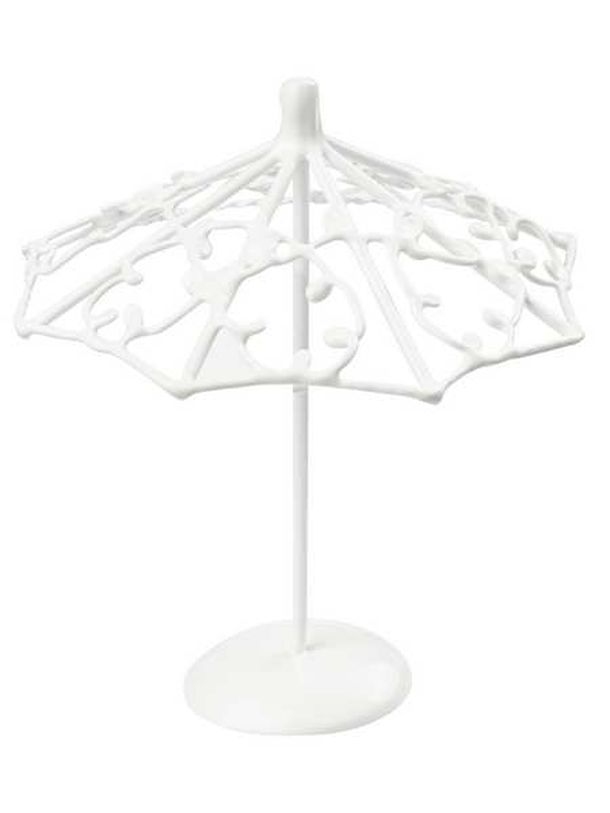 vente mini parasol m tal blanc d coration de table 1001 deco table. Black Bedroom Furniture Sets. Home Design Ideas