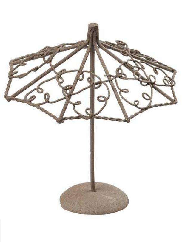 vente mini parasol m tal chocolat d coration de table 1001 deco table. Black Bedroom Furniture Sets. Home Design Ideas
