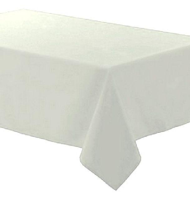 Achat nappe polyester blanche nappes serviettes chemins - Serviette de table blanche ...