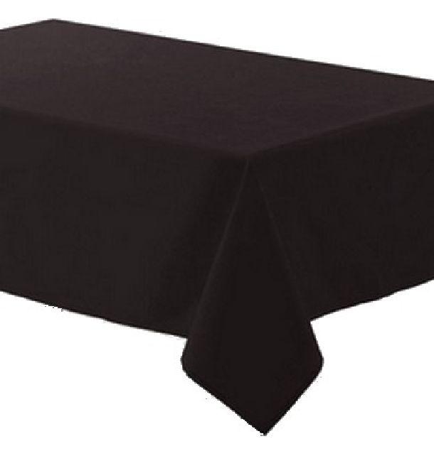 achat nappe polyester noire nappes serviettes chemins de. Black Bedroom Furniture Sets. Home Design Ideas
