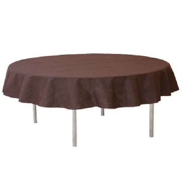 Vente nappe ronde intiss chocolat 240cm tables 1001 - Nappe pour table ronde ...