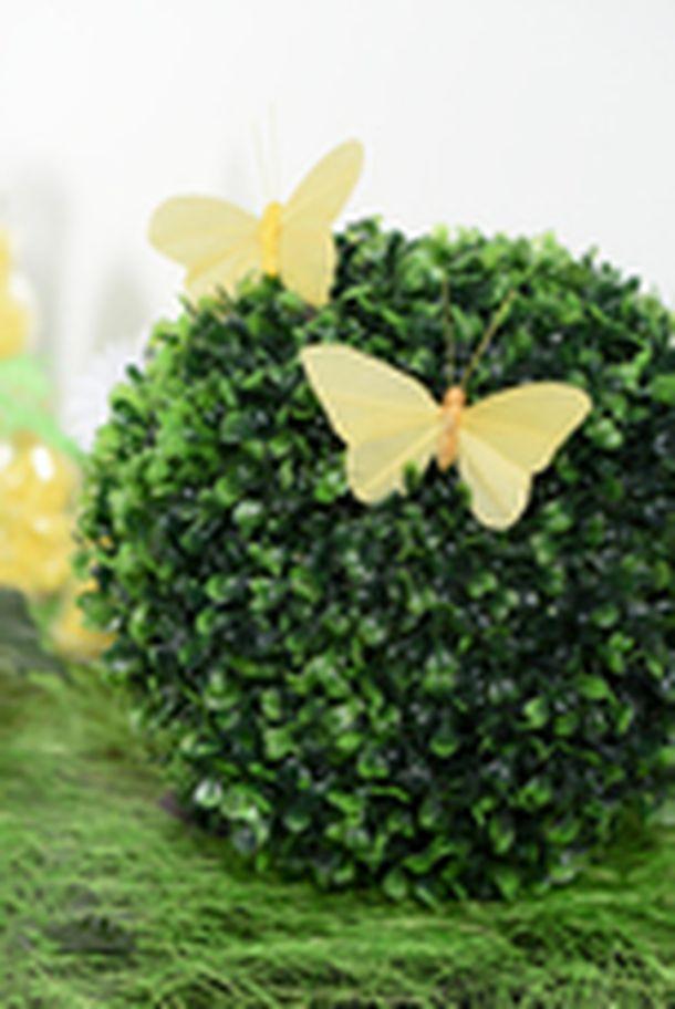 Vente papillon uni sur tige ivoire x6 d coration de table 1001 deco table - Papillon sur tige ...