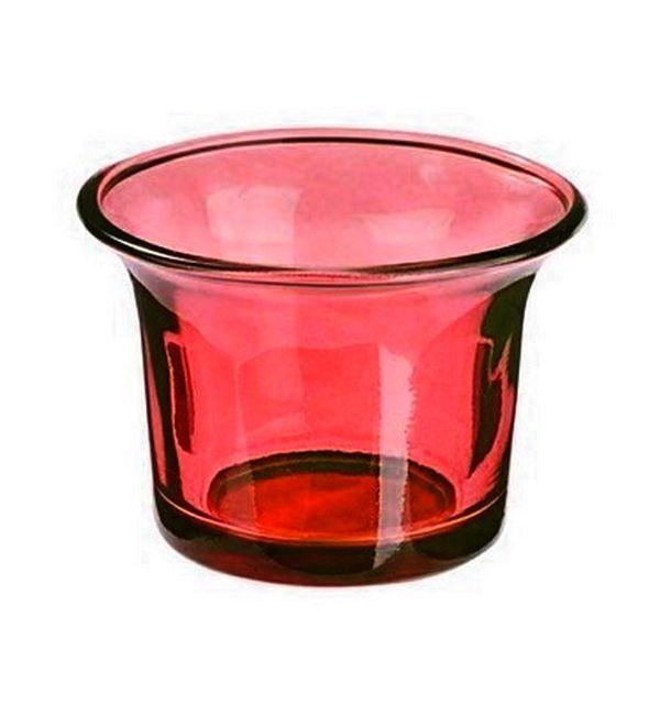Acheter Photophore En Verre Rouge Bougies Leds Photophores 1001 Deco Table