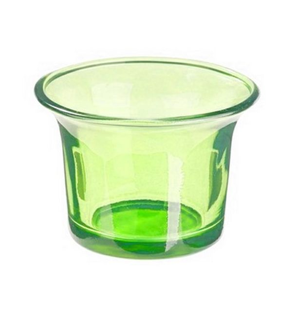 acheter photophore en verre vert anis bougies leds photophores 1001 deco table. Black Bedroom Furniture Sets. Home Design Ideas