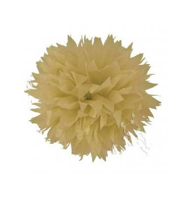 vente pompon papier de soie fleur 38 cm cru d coration de salle 1001 deco table. Black Bedroom Furniture Sets. Home Design Ideas