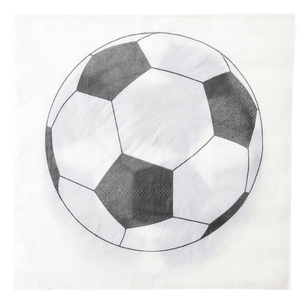Vente serviette en papier ballon foot x20 nappes - Decoration football pour anniversaire ...